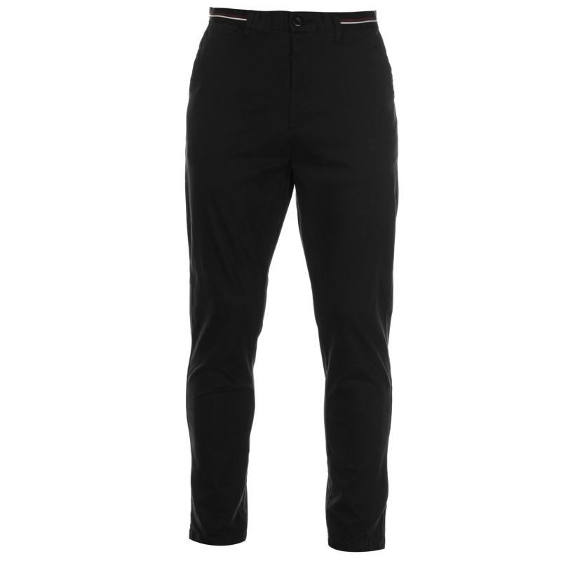 Kalhoty Pierre Cardin Relaxed Ankle Trousers Mens Black