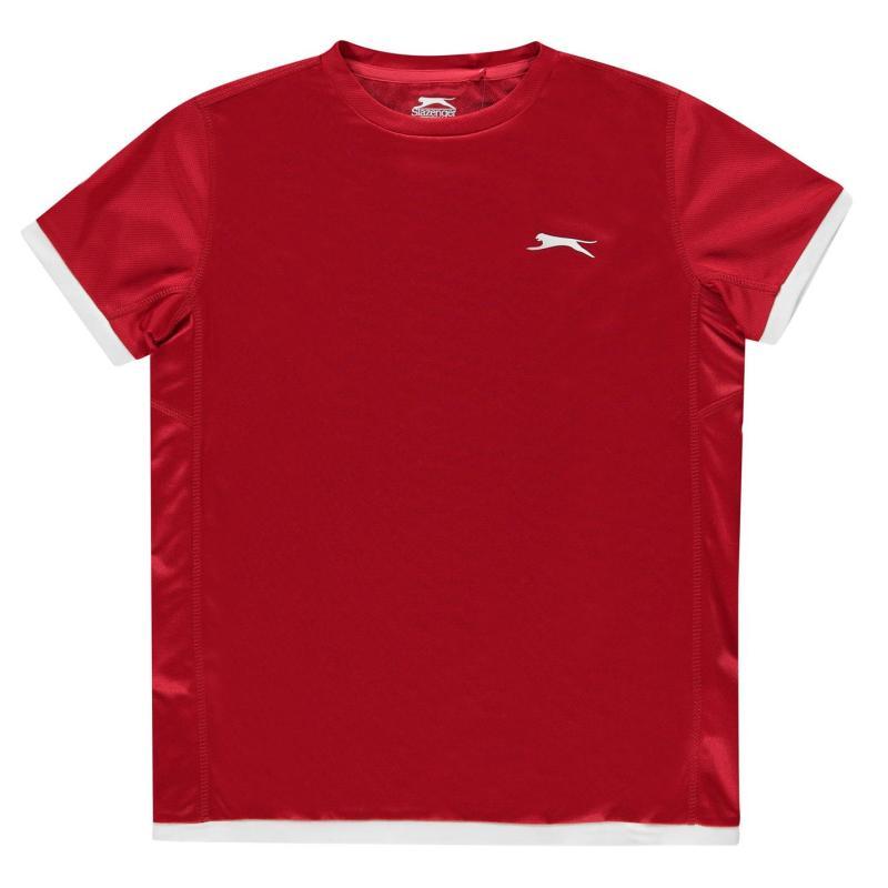 Slazenger Court T Shirt Junior Boys Red