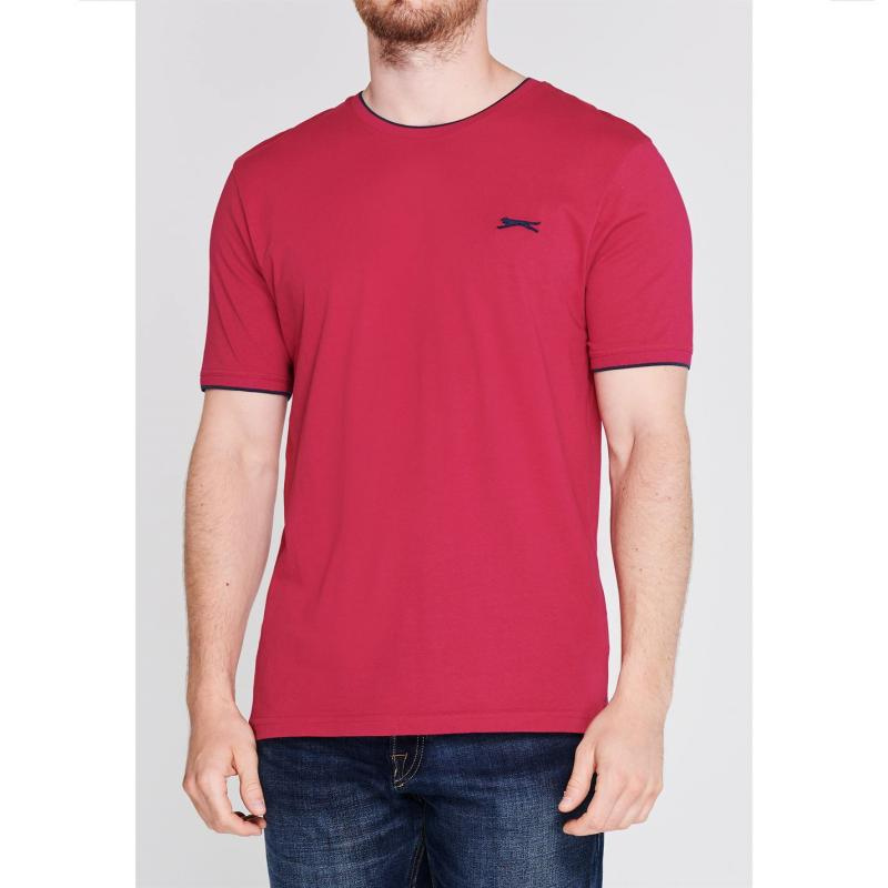 Tričko Slazenger Tipped T Shirt Mens Yellow
