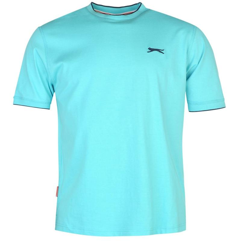 Tričko Slazenger Tipped T Shirt Mens True Red