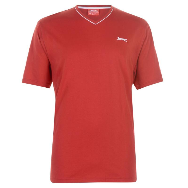Tričko Slazenger V Neck T Shirt Mens True Red