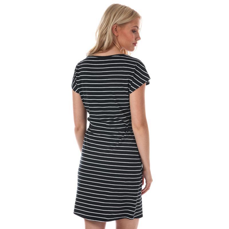 Šaty Vero Moda Womens April Stripe Dress Black