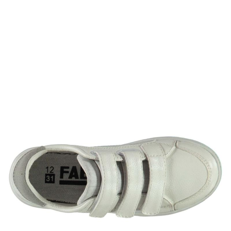 Boty Fabric Turin Child Boys Trainers White