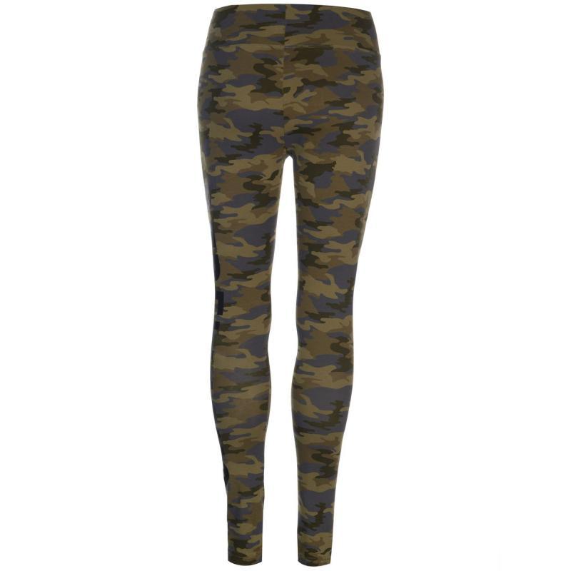 Golddigga AOP Leggings Ladies Khaki Camo