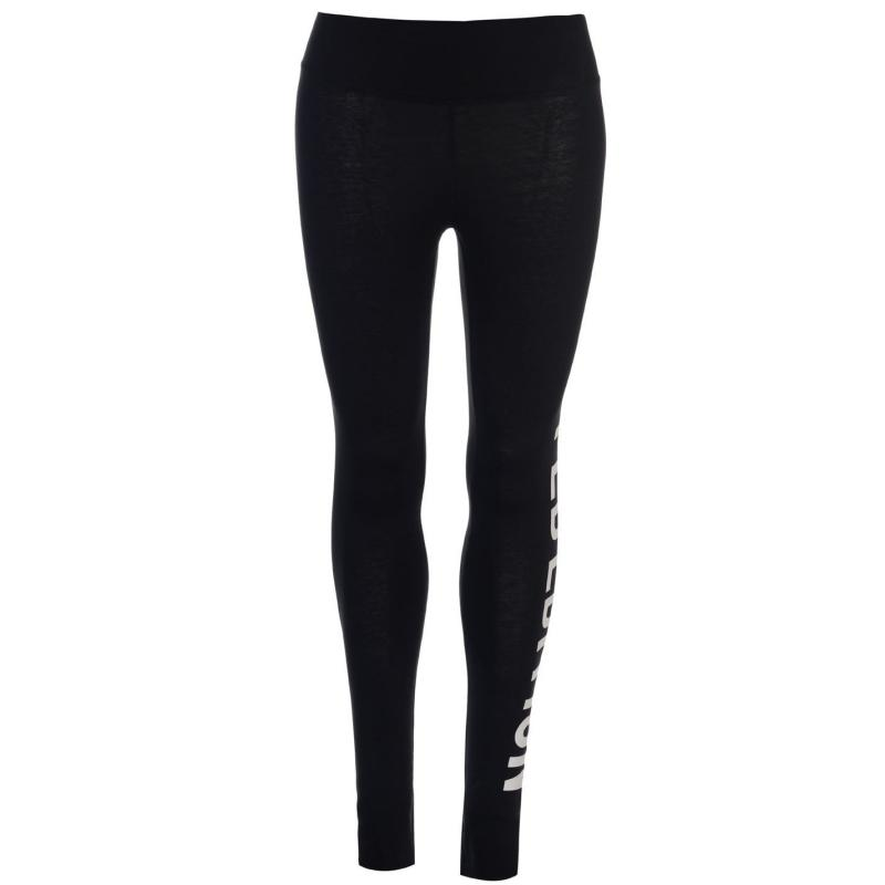 Legíny Golddigga Large Logo Leggings Ladies Black LE