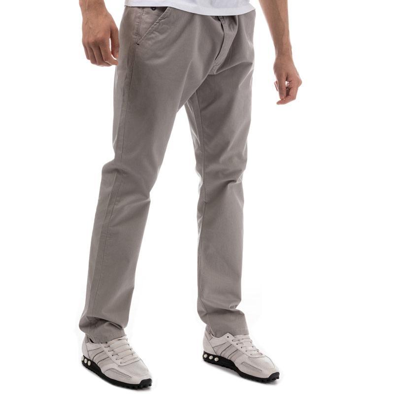 Eto Mens EM602 Slim Stretch Chino Grey