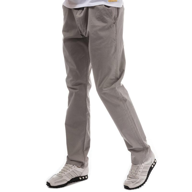 Eto Mens EM602 Slim Stretch Chino Grey