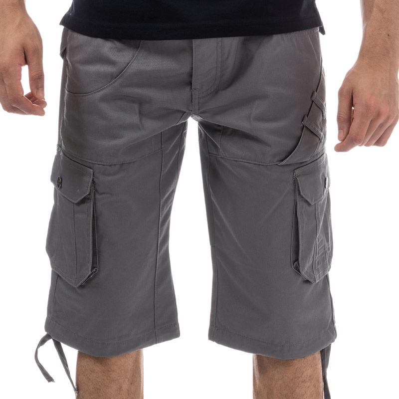 Eto Mens EMS572 Combat Cargo Short Grey