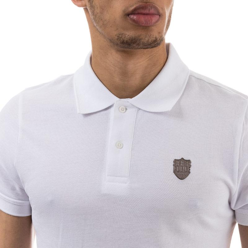883 Police Mens Trapper Polo Shirt White