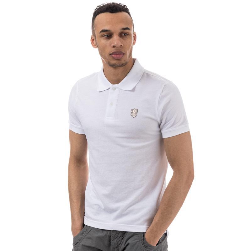883 Police Mens Trapper Polo Shirt White