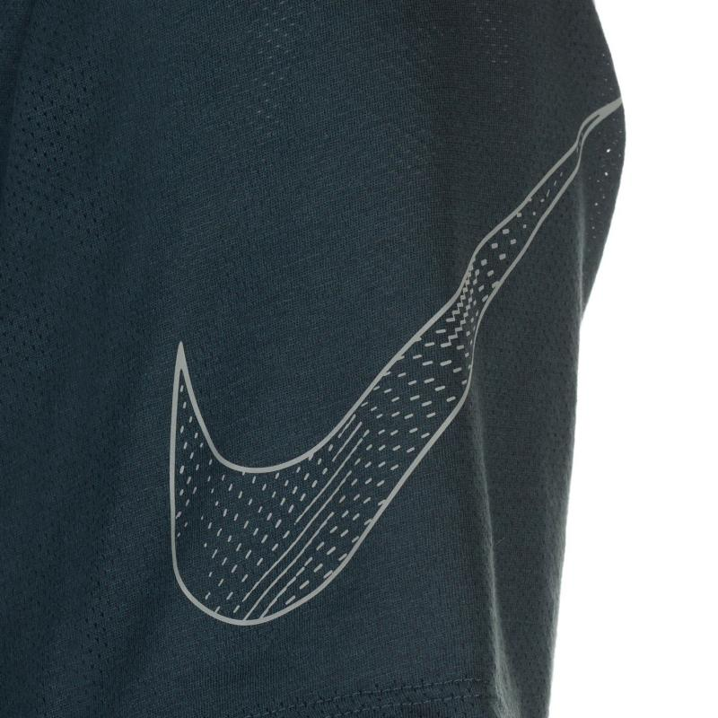 Tričko Nike Tailwind Short Sleeve T Shirt Mens Jungle/Silver