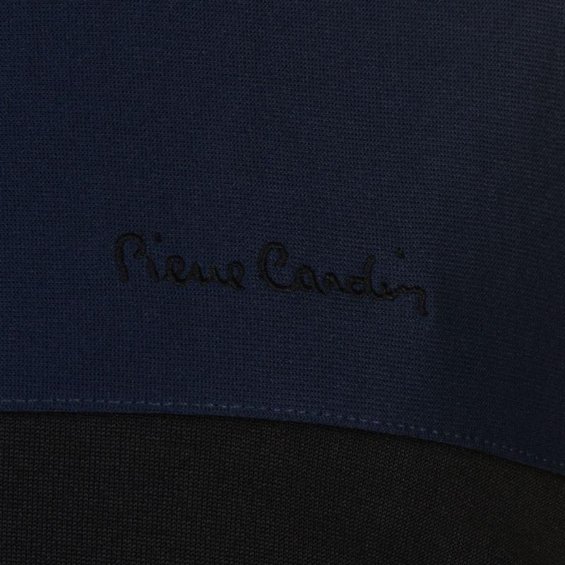 Mikina Pierre Cardin Panelled Crew Sweater Mens Navy/Royal/Wht