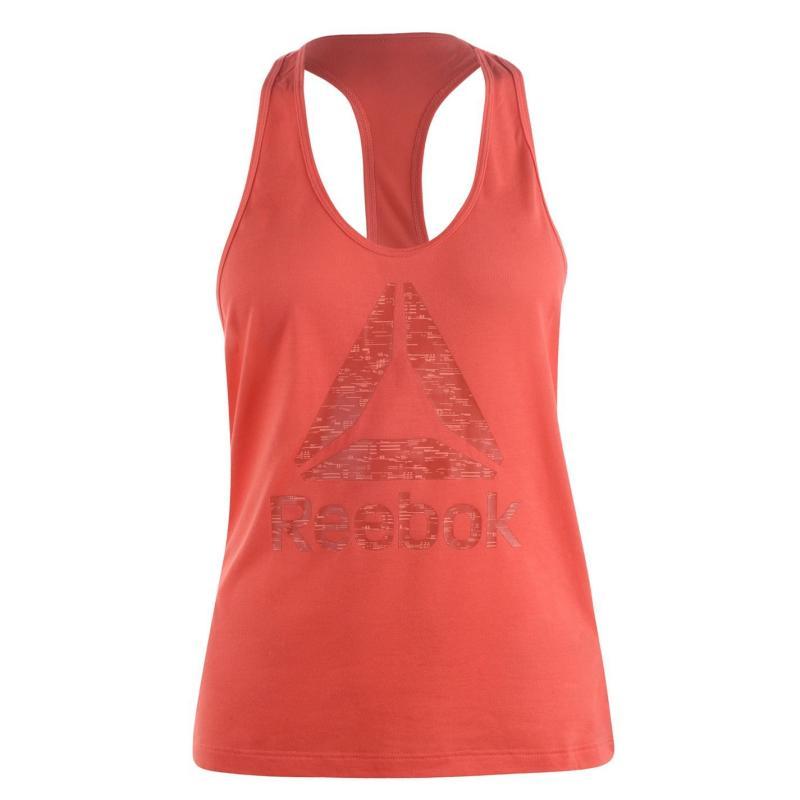 Reebok Logo Tank Top Ladies Fire Coral