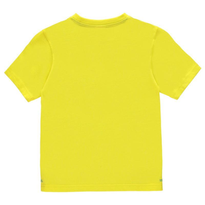 Tričko Slazenger Plain T Shirt Junior Boys Yellow