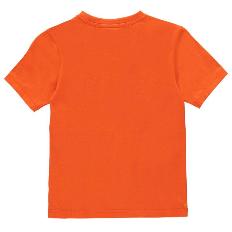 Tričko Slazenger Plain T Shirt Junior Boys Orange