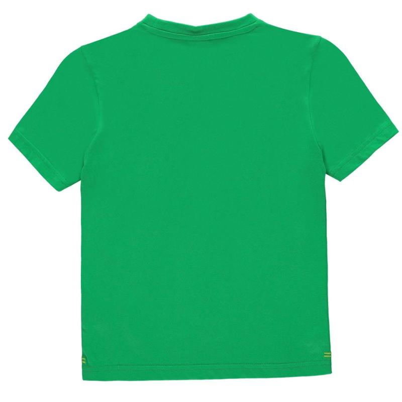 Tričko Slazenger Plain T Shirt Junior Boys Bright Green