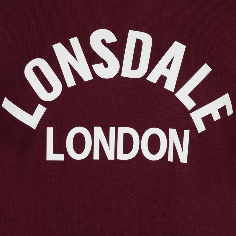 Tričko Lonsdale Arch T Shirt Mens Grey Marl