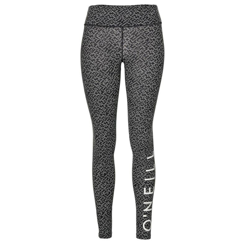 ONeill Logo Leggings Ladies Black