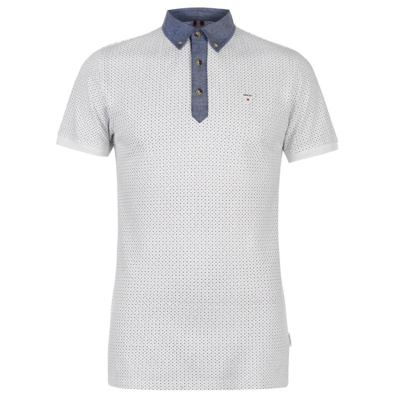 Soviet Chambray Polo Shirt White