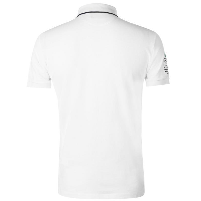 Hackett Pique Polo Shirt Mens White
