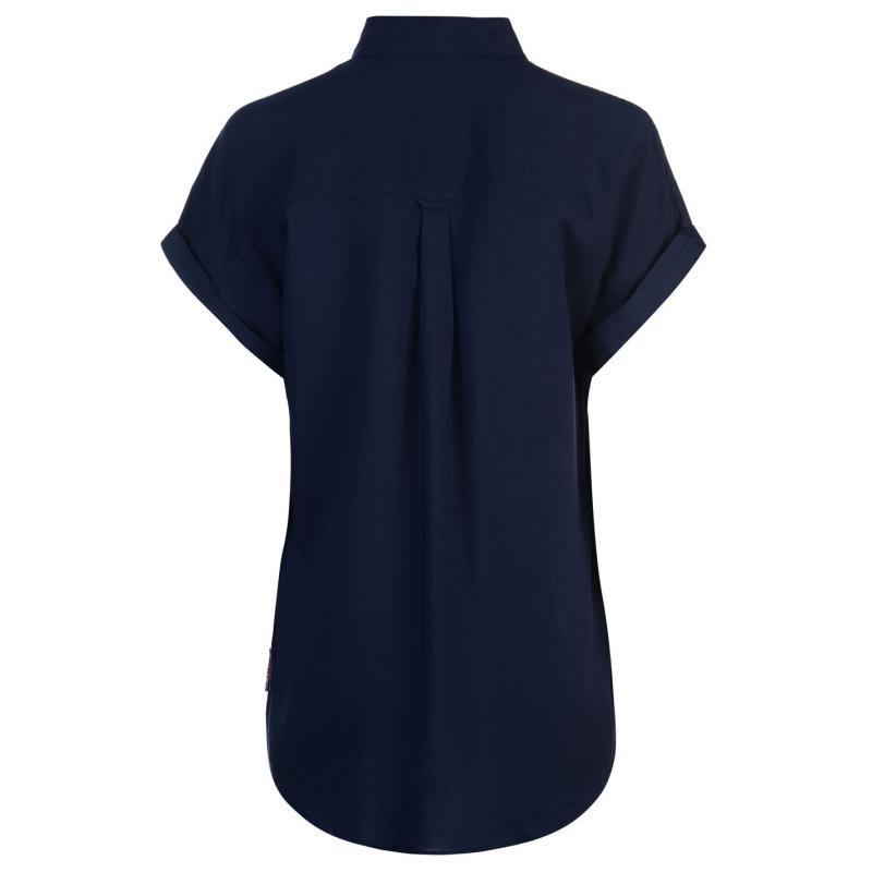 Košile Lee Cooper Short Sleeve Shirt Ladies Navy