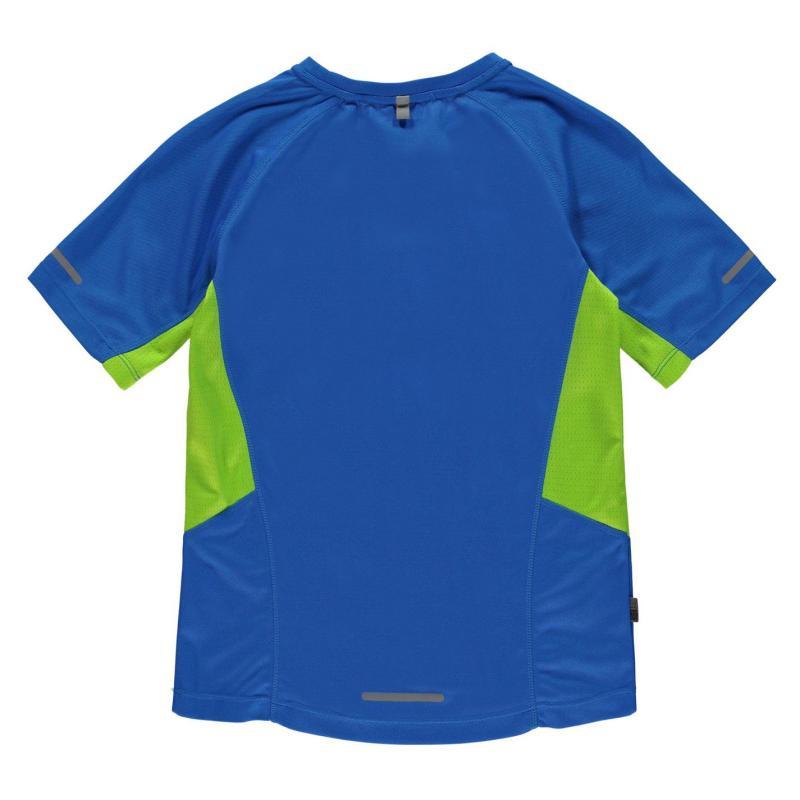 Tričko Karrimor Short Sleeved Running T Shirt Juniors Blue Lime