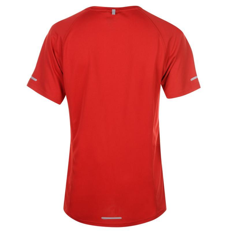 Tričko Karrimor Short Sleeve Run T Shirt Mens Black/Fluo Yell