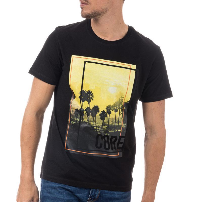 Tričko Jack Jones Mens Walcott T-Shirt Black