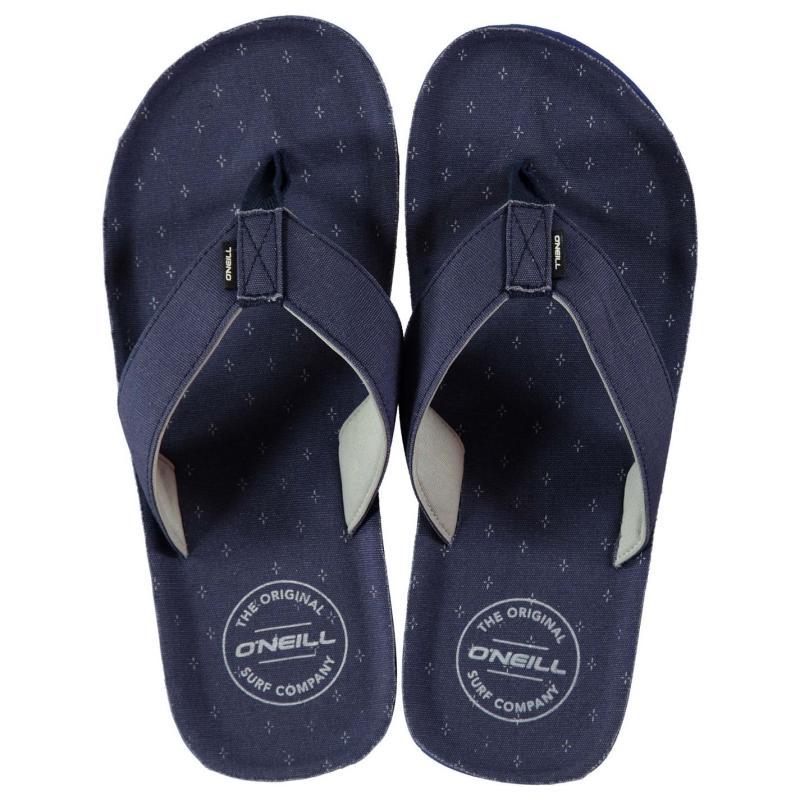 ONeill Chad Pattern Flip Flops Mens Blue AOP