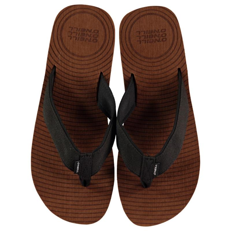 ONeill Koosh Slide Flip Flops Mens Brown