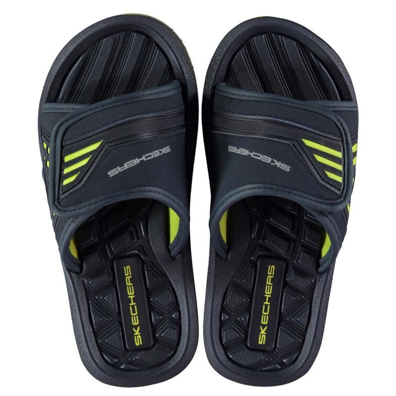 Boty Skechers Adjustable Sliders Child Boys Navy/Lime