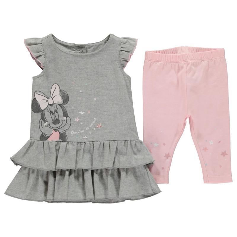 Šaty Disney 2 Piece Dress Set Baby Girls Minnie Rib