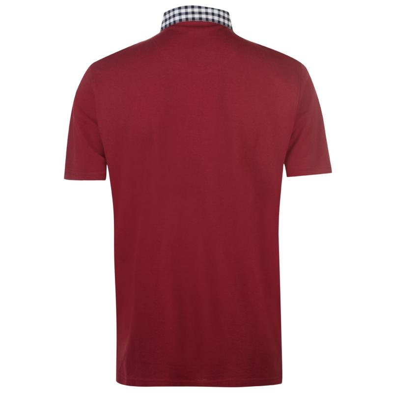 Pierre Cardin Check Collar Polo Shirt Mens Navy
