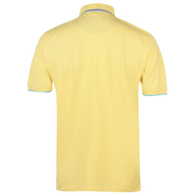 Pierre Cardin Detail Polo Shirt Mens Lemon