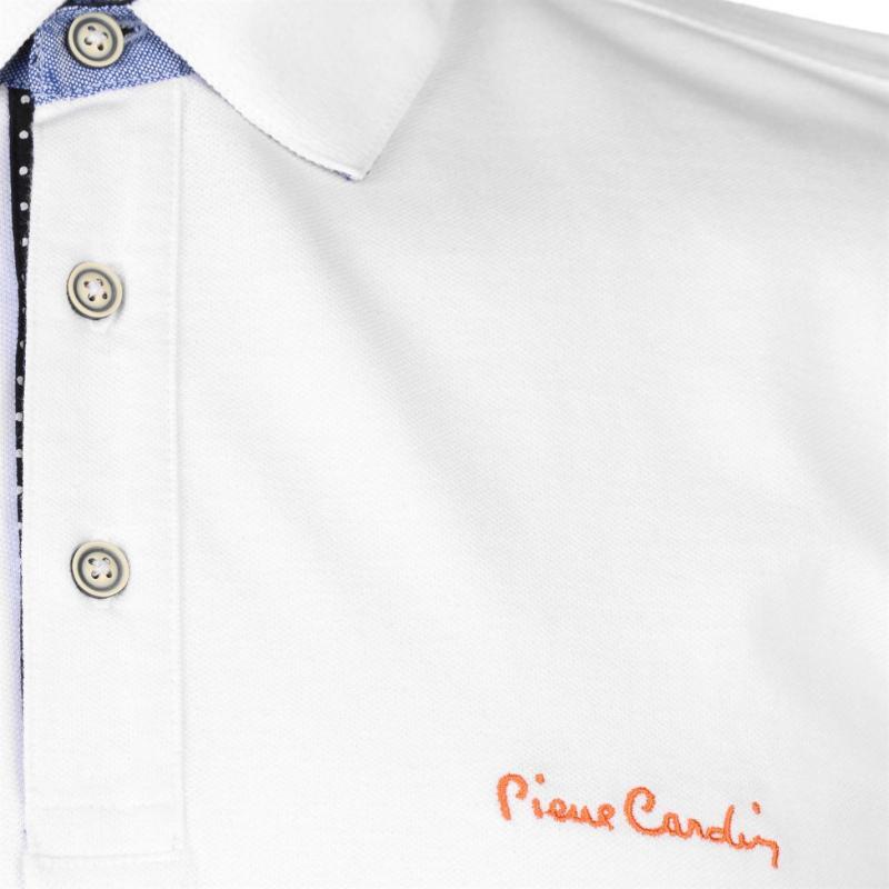Pierre Cardin Detail Polo Shirt Mens Raspberry