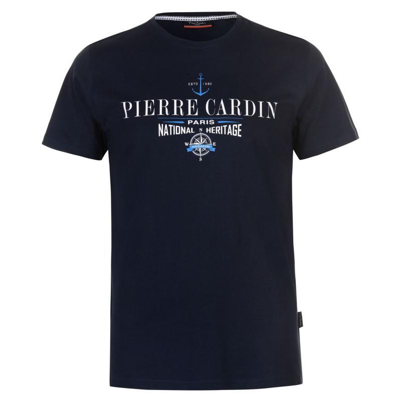 Tričko Pierre Cardin Print T Shirt Mens Bright Teal