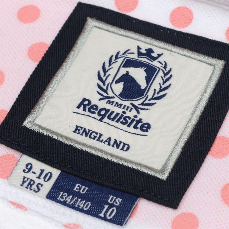 Requisite Girls Sash Polo Pink/White