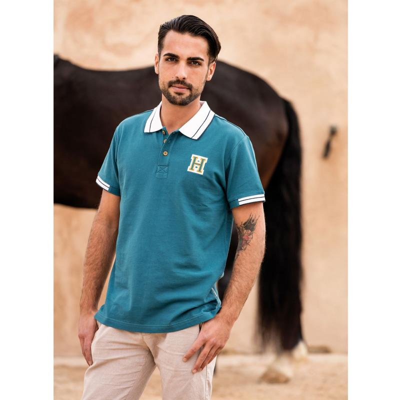 Horseware Mens Pique Polo Moroccan Blue