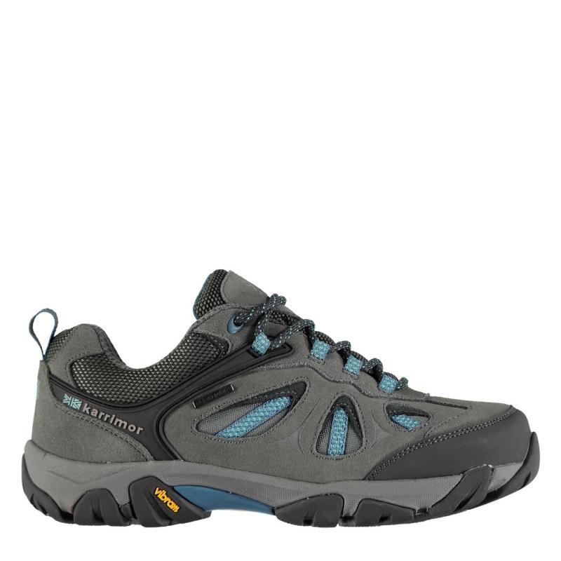 Boty Karrimor Aspen Low Ladies Waterproof Walking Shoes Charcoal/Blue