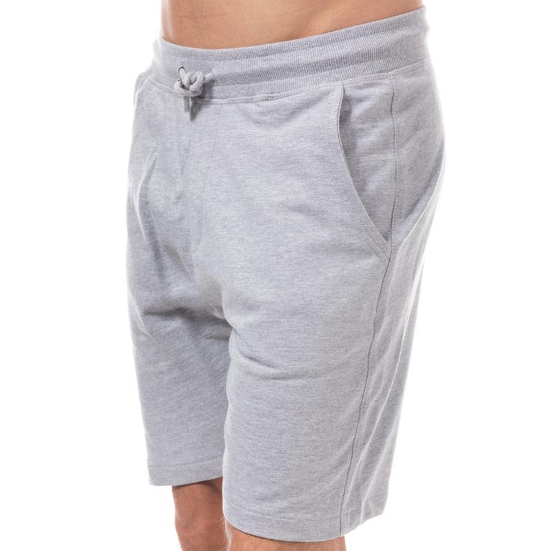 D-Struct Mens Basen Jog Shorts Grey Marl