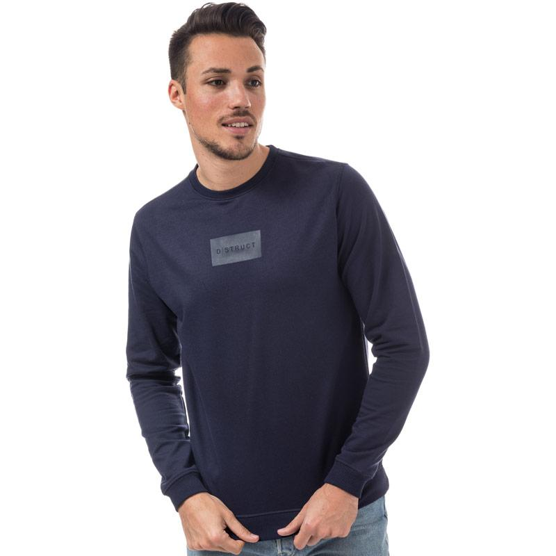 Mikina D-Struct Mens Burrow Crew Sweat Navy