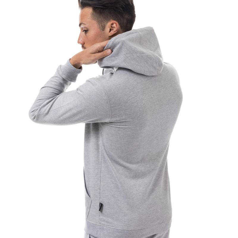 Mikina D-Struct Mens Sedin Logo Hoody Grey Marl