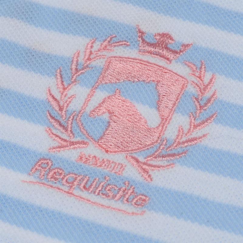 Requisite Applique Polo Shirt Junior Girls Blue