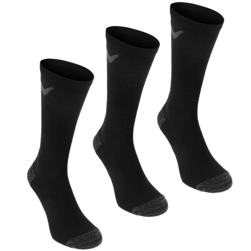 Ponožky Callaway Opti Dri 3 Pack Golf Socks Black