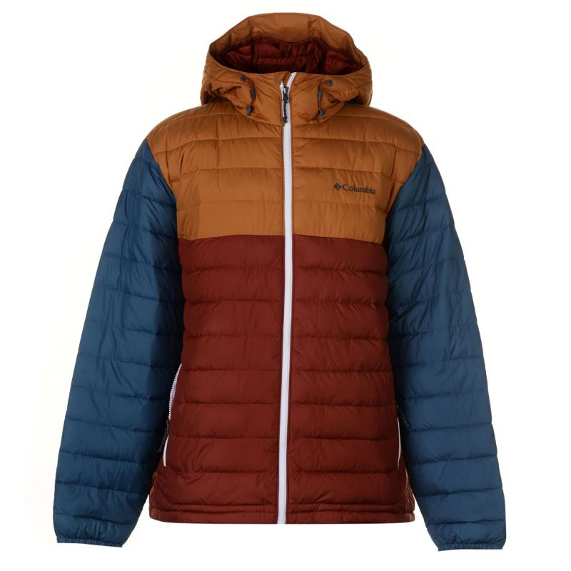Columbia Powder Jacket Mens Burgundy/Gold