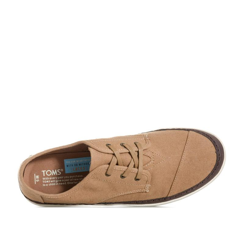 Boty Toms Mens Paseo Lace Up Shoe Brown