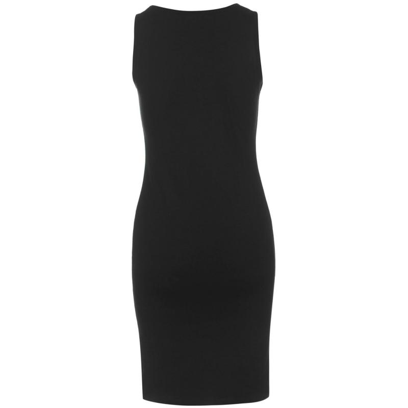 Šaty Miso Sleeveless Bodycon Dress Ladies Black