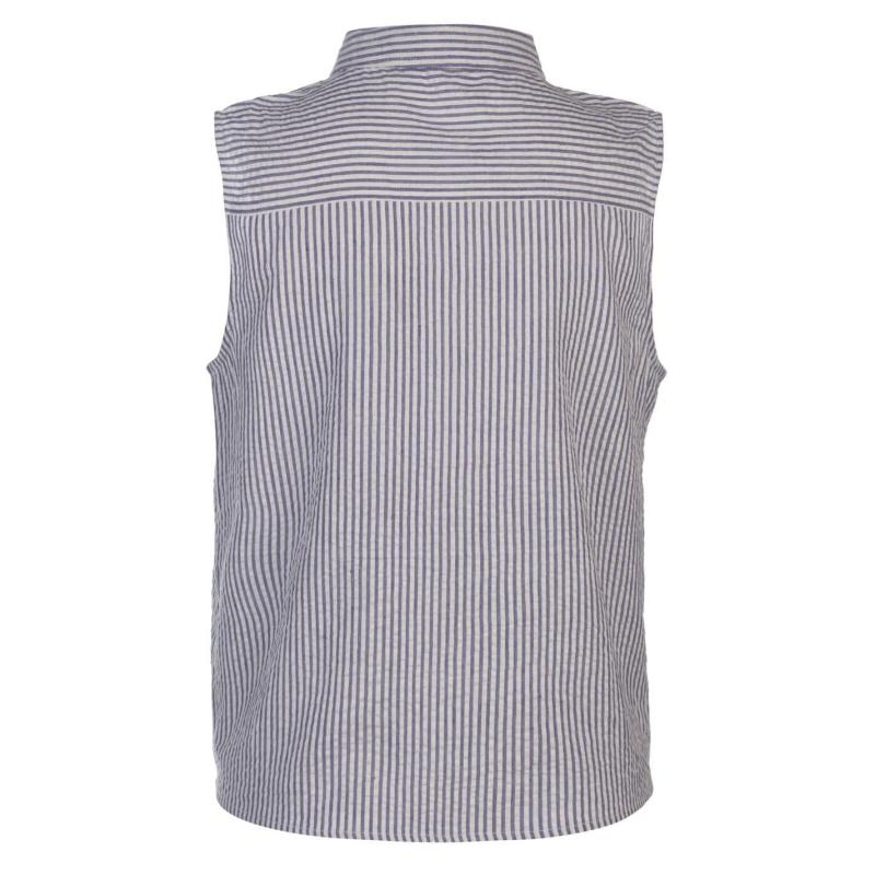 Košile SoulCal Tie Blouse Ladies Blue Stripe