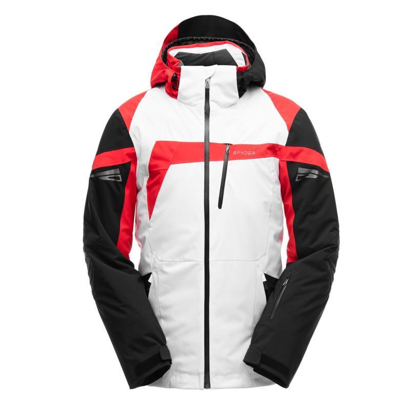 Spyder Titan Jacket Mens White/Black