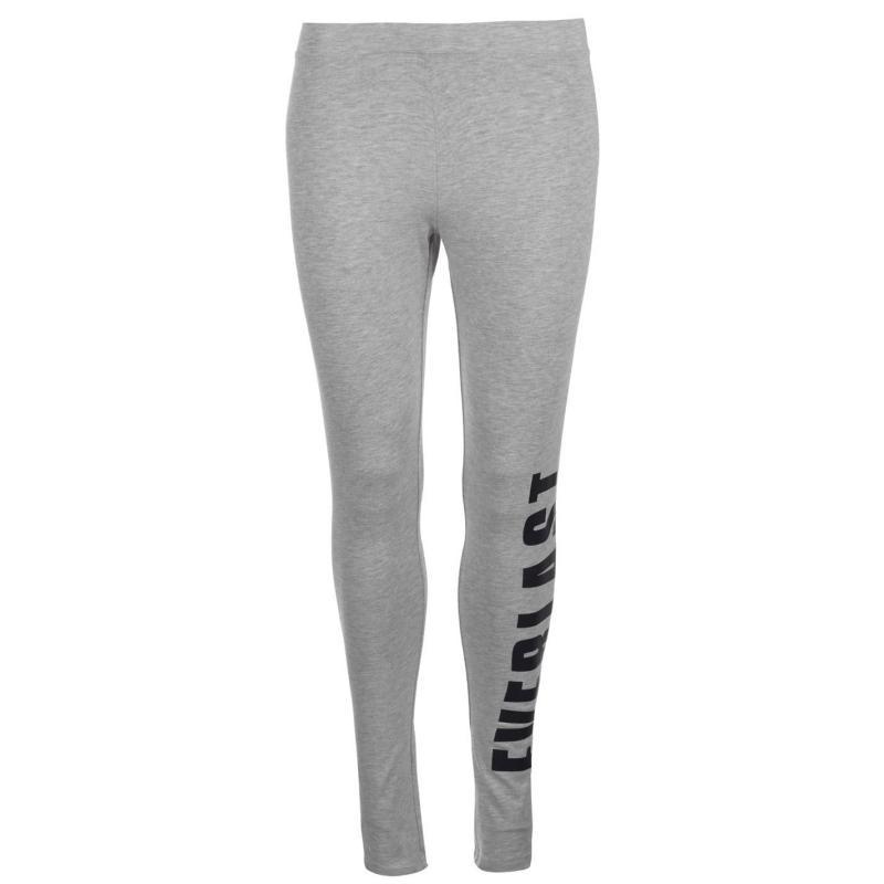 Everlast Large Logo Leggings Ladies Grey Marl